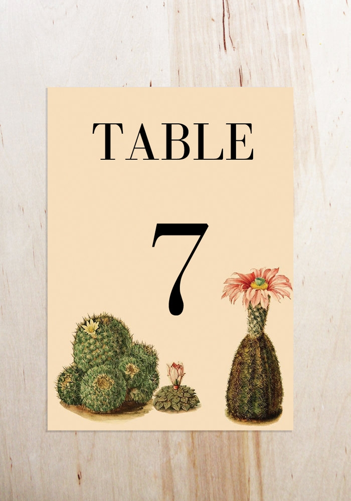Cactus Table Cards