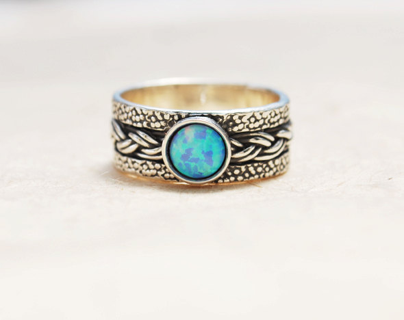 Gemstone Wedding Band