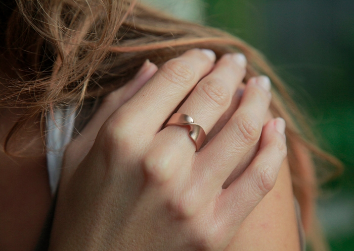 Infinity Knot Rose Gold Wedding Band