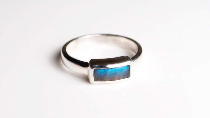 Labradorite Engagement Ring
