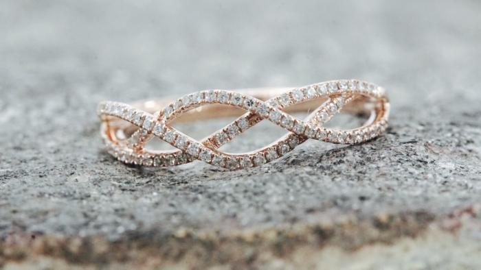 Rose Gold Diamond Eternity Wedding Band