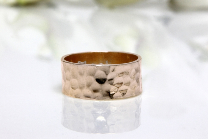 Thick Rose Gold Wedding Band