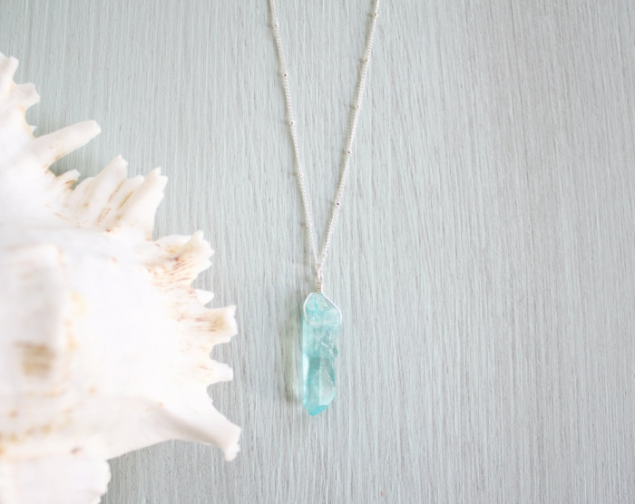 apatite blue necklace