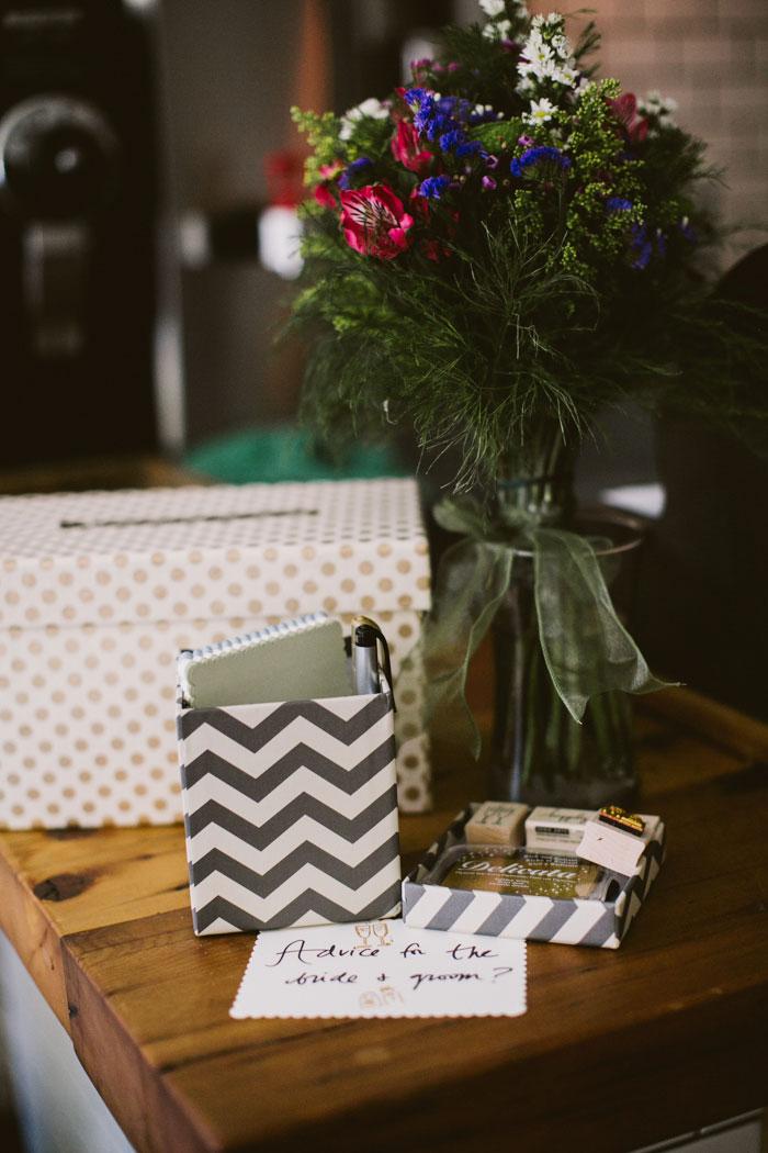 card box at wedding