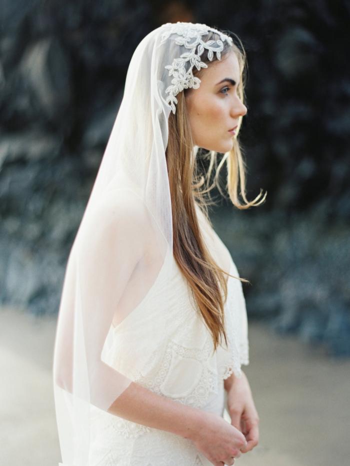 cap lace veil