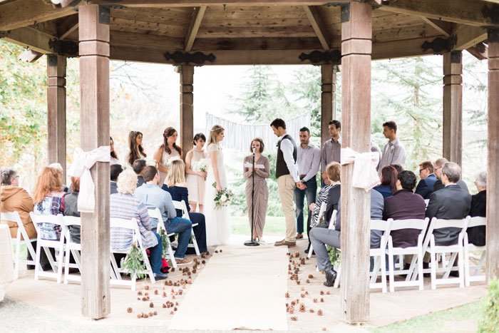 outdoor gazebo wedding ceremony