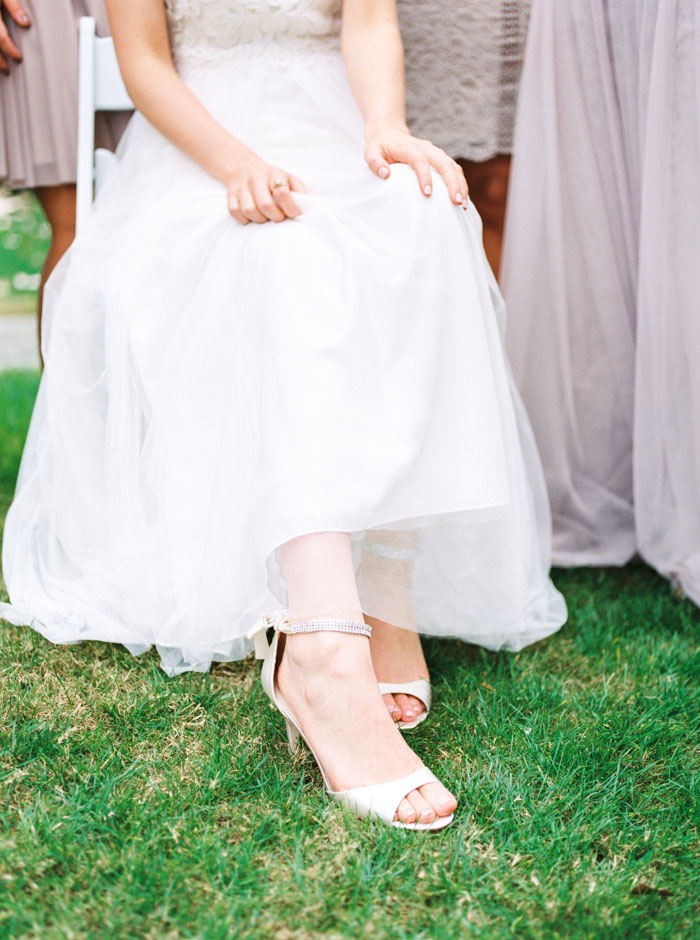 shot of bride's shoes