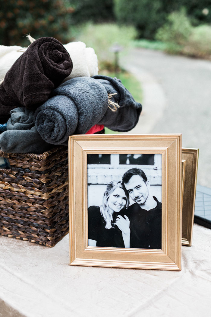 framed black and white photo of couple