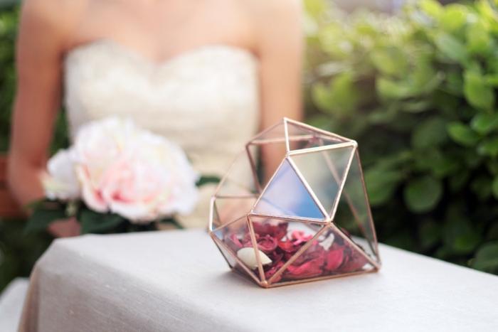 diamond shapped terrarium