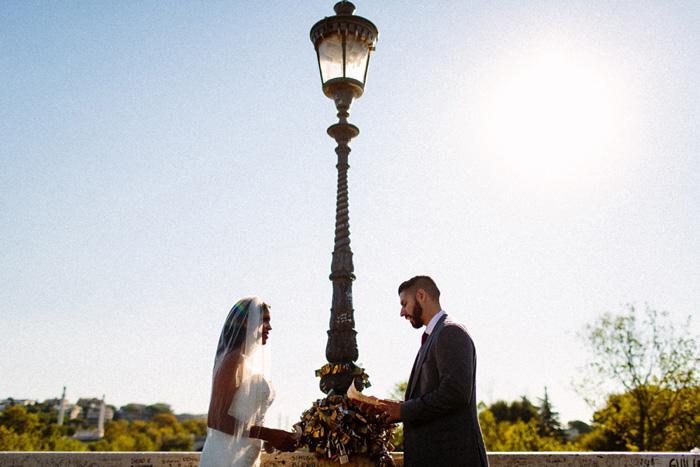 outdoor elopement ceremony in Rome