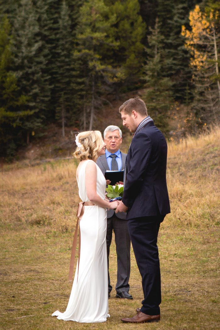 elopement ceremony in Lake Louise National Park