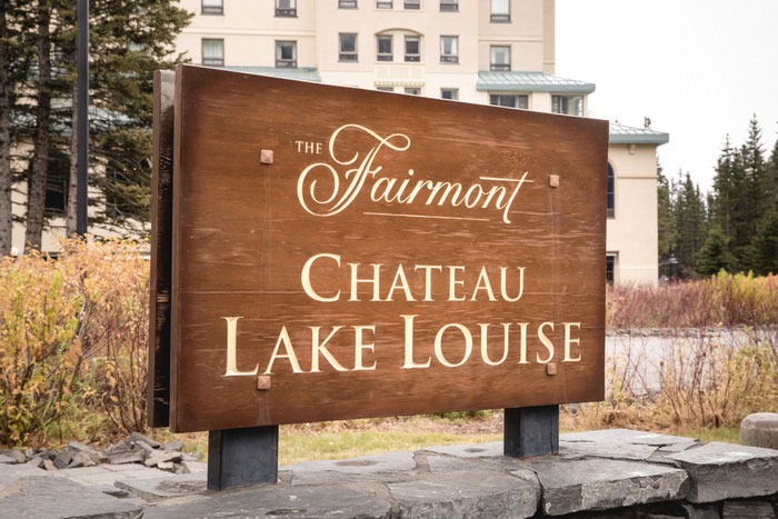Chateau Lake Louise sign