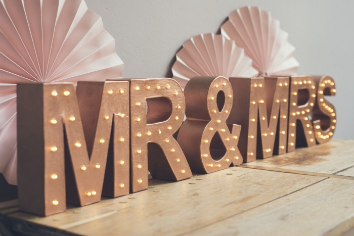 mr and mrs marquee