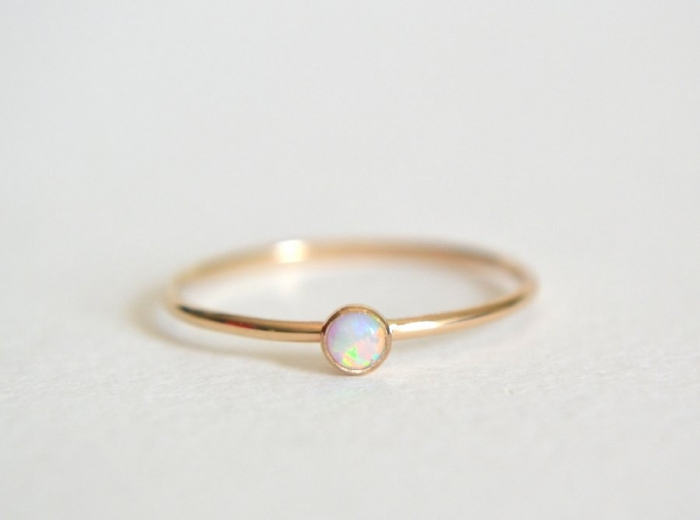Opal Wedding Band