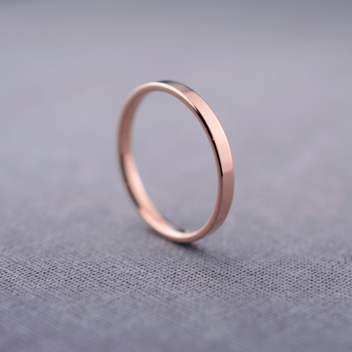 this handmade 14k rose gold rope ring by blueridgenotions is all about minimalist elegance - Small Wedding Rings