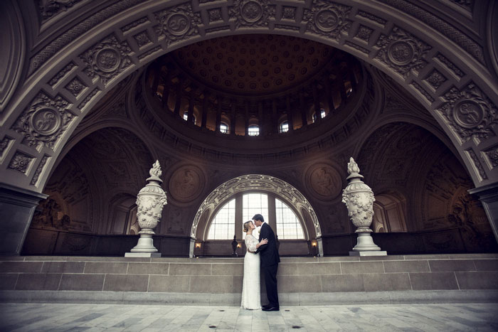 Wedding portrait at San Francisco City Hall