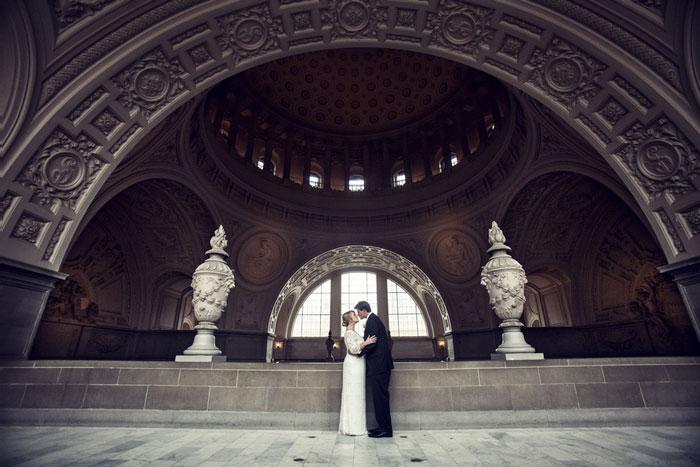 Tj And Erins Intimate San Francisco City Hall Wedding