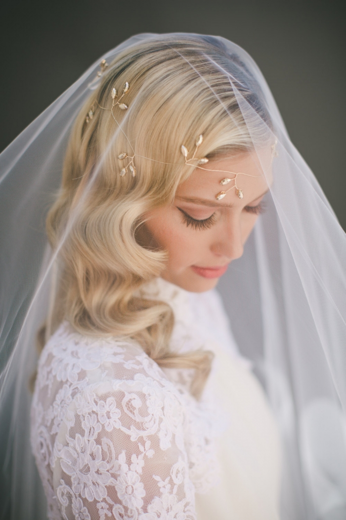tulle cathedral veil