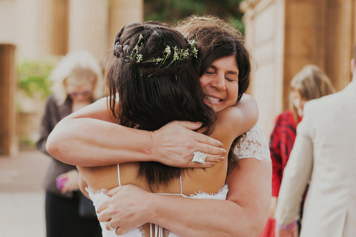 bride hugging mother-in-law