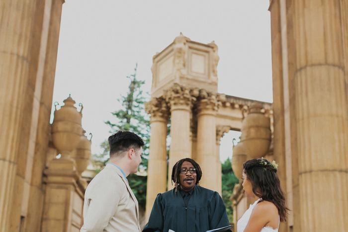 Palace of FIne Arts outdoor wedding ceremony