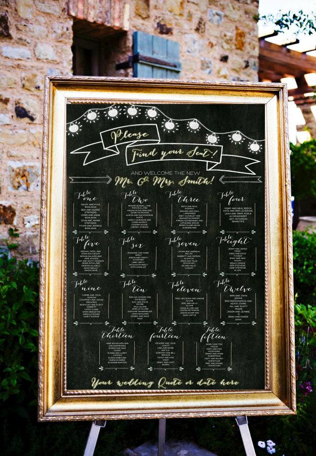 chalkboard seat chart