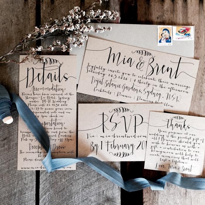 classy rustic wedding invites