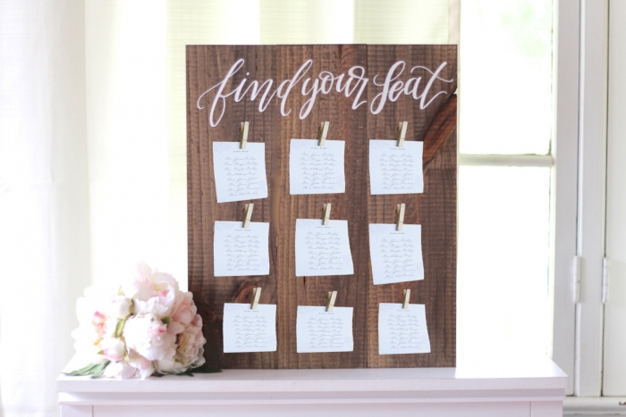 clothes pin seating chart