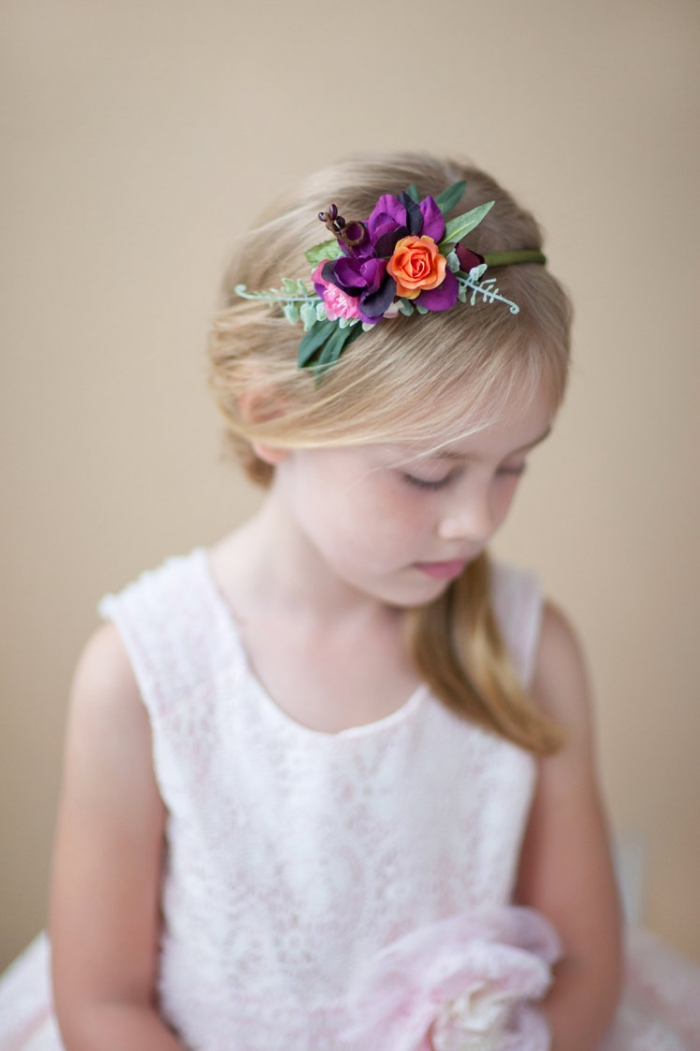 colorful flower head band