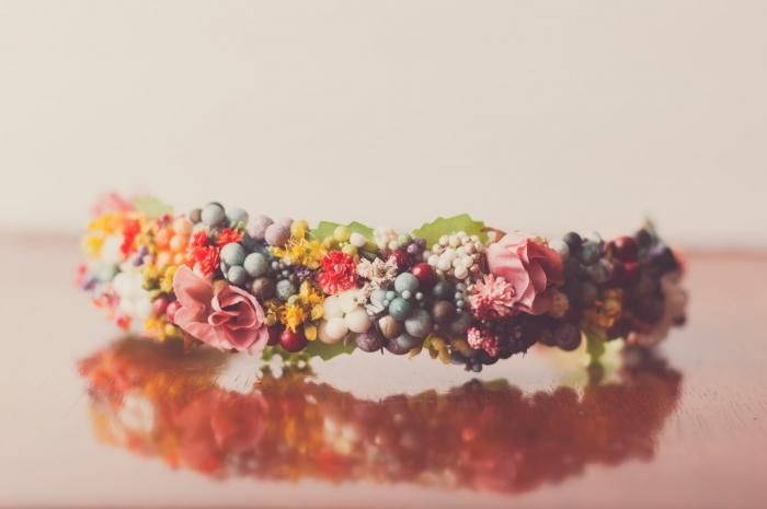 floral crown flower headband