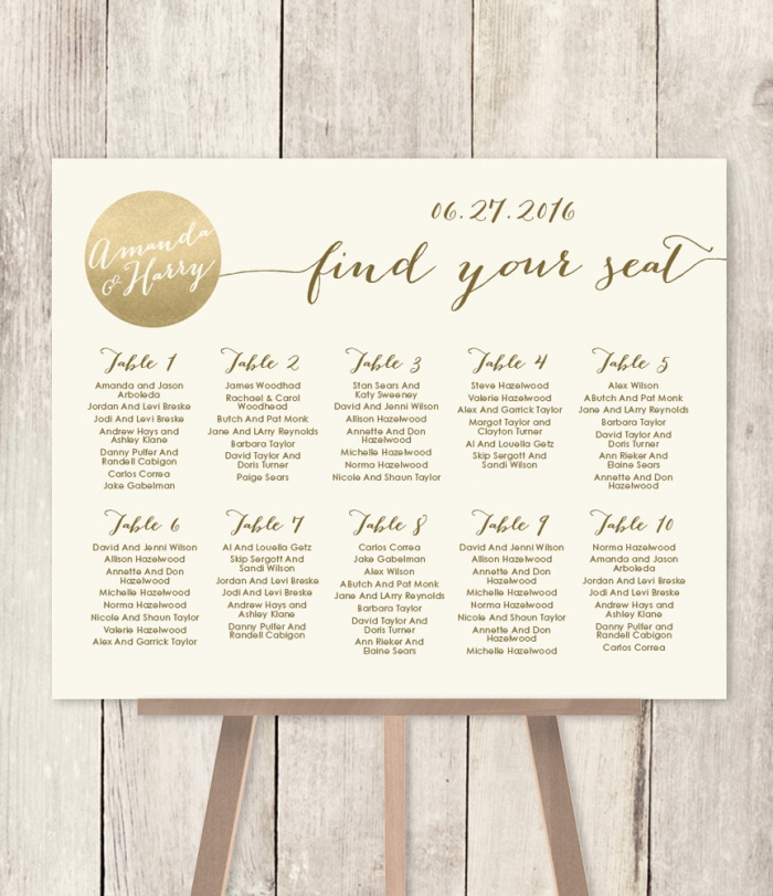 12 perfectly organized seating charts from etsy
