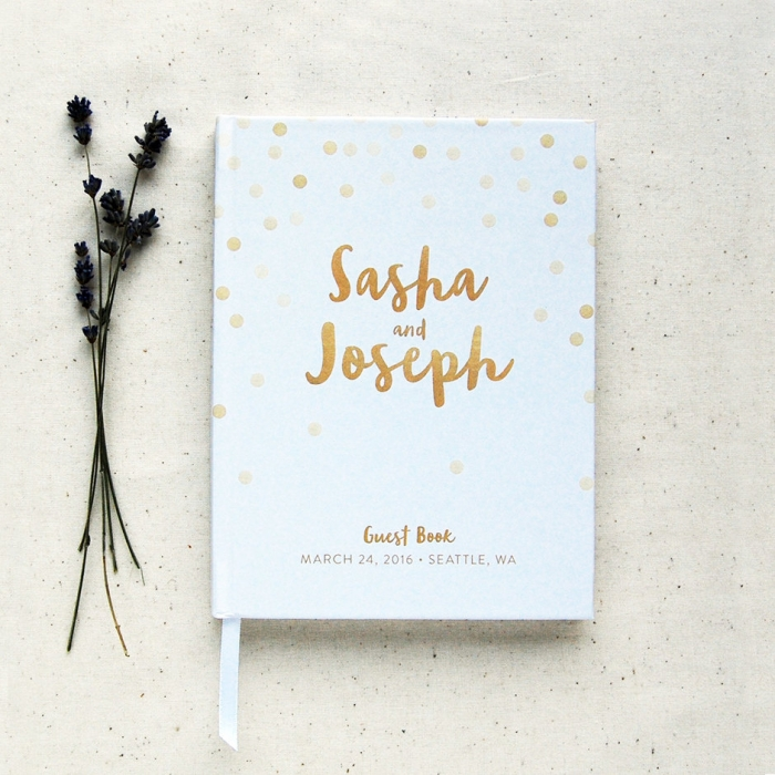 graphic dots guest book