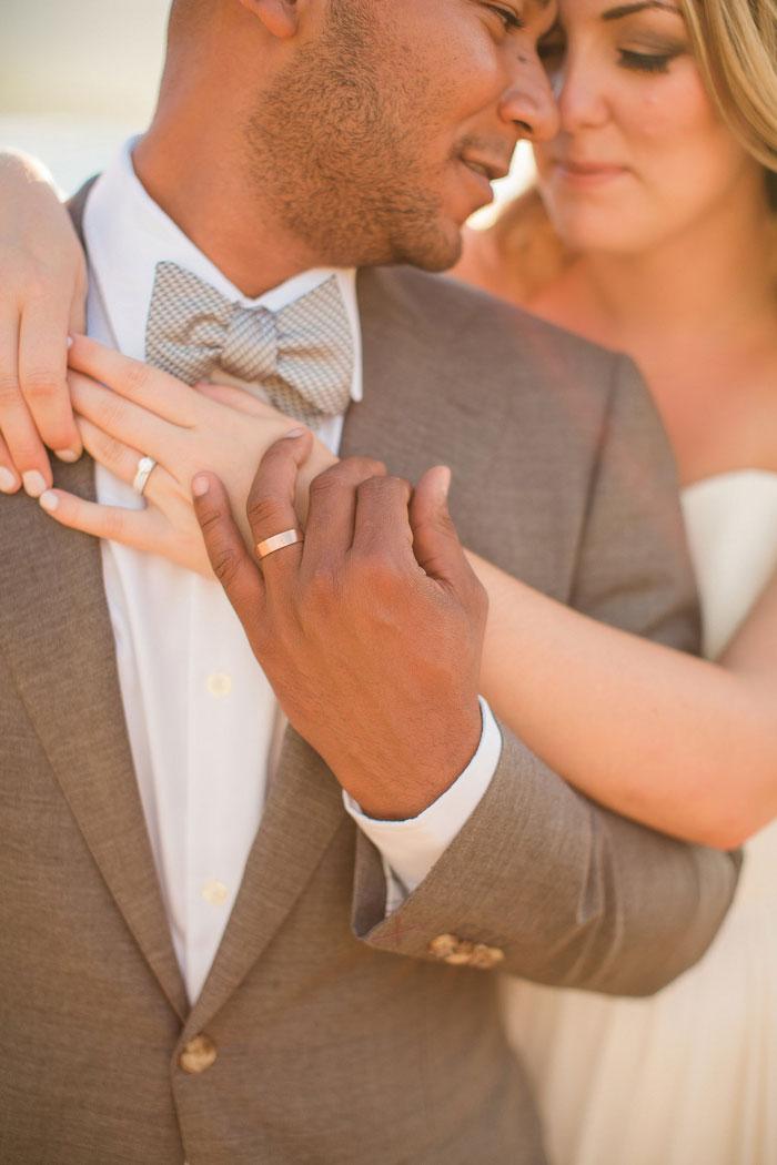 wedding portrait focused onnrings