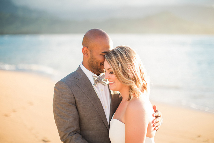 wedding portrait on the beach