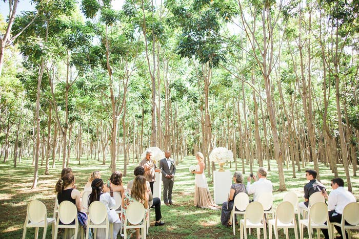 outdoor Hawaii wedding ceremony