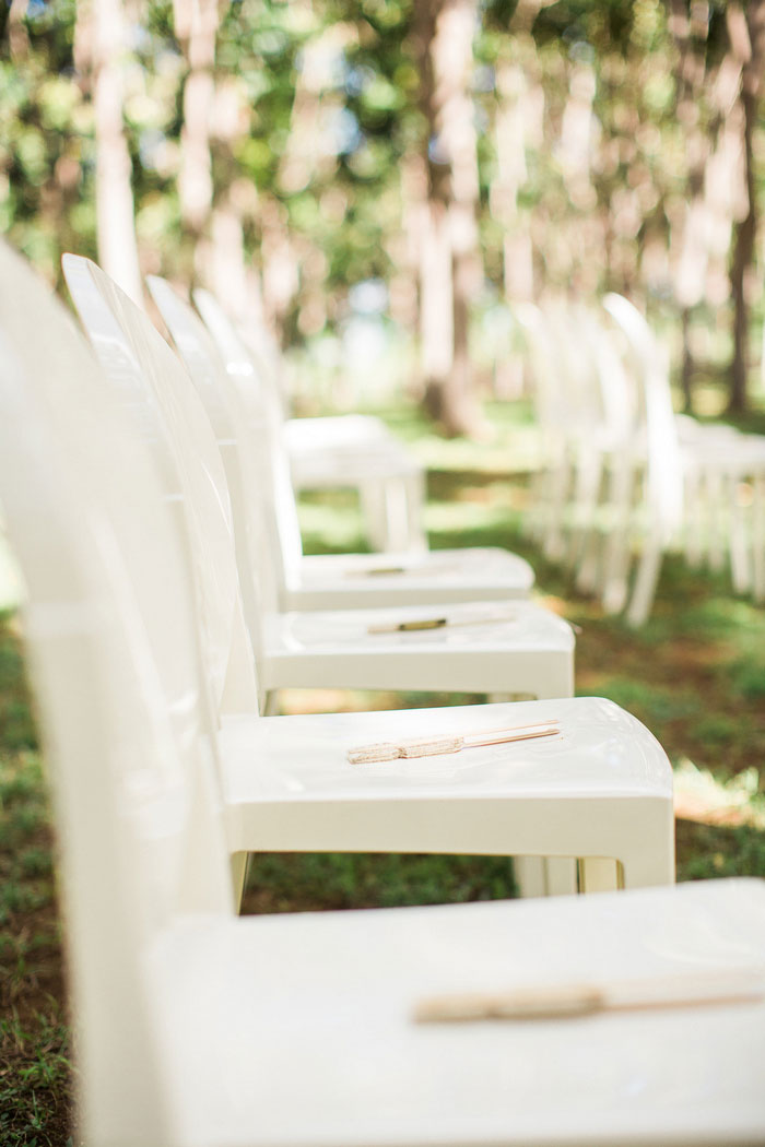 wedding ceremony chairs with fans
