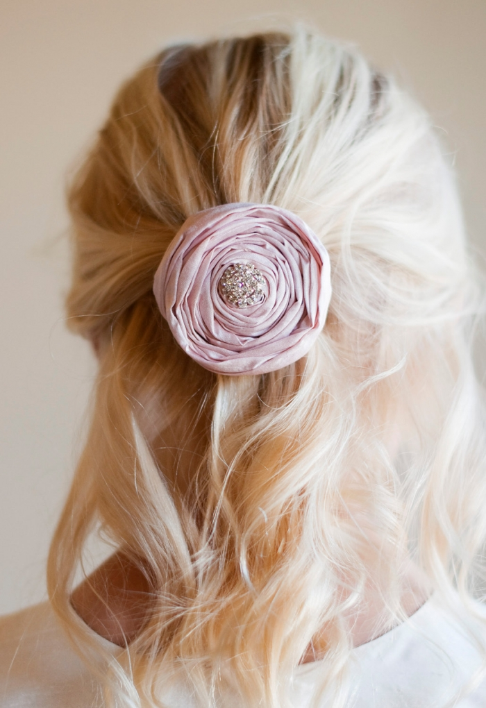 paper rose clip flower girl