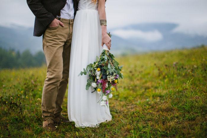 wedding portrait from waist down