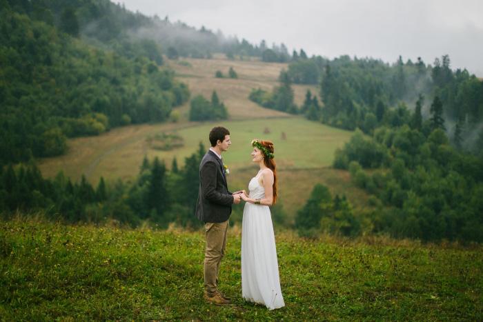Ukrainian mountain wedding