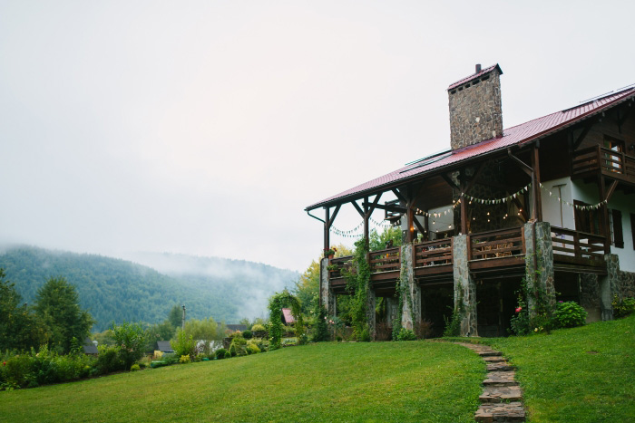 chalet wedding reception venue