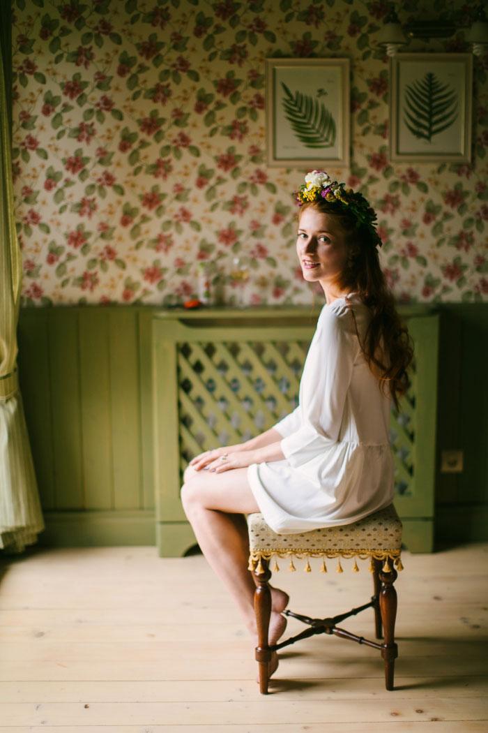 bride portrait getting ready