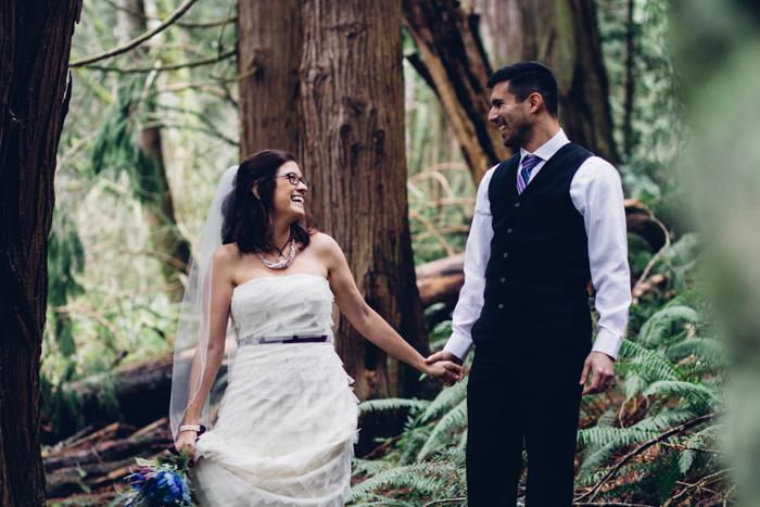 woodland wedding portrait