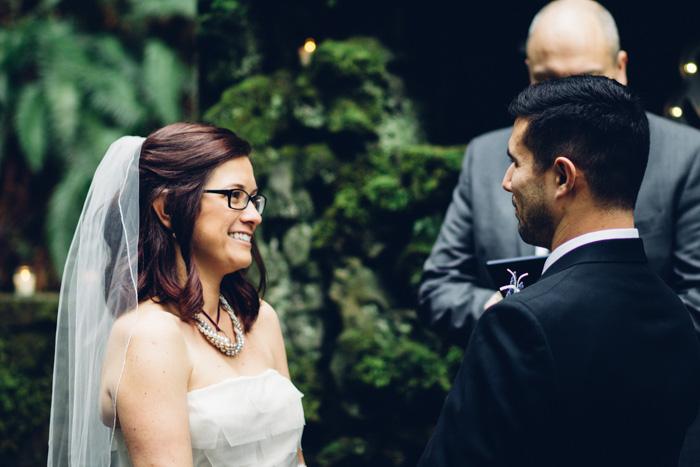 woodland elopement ceremony