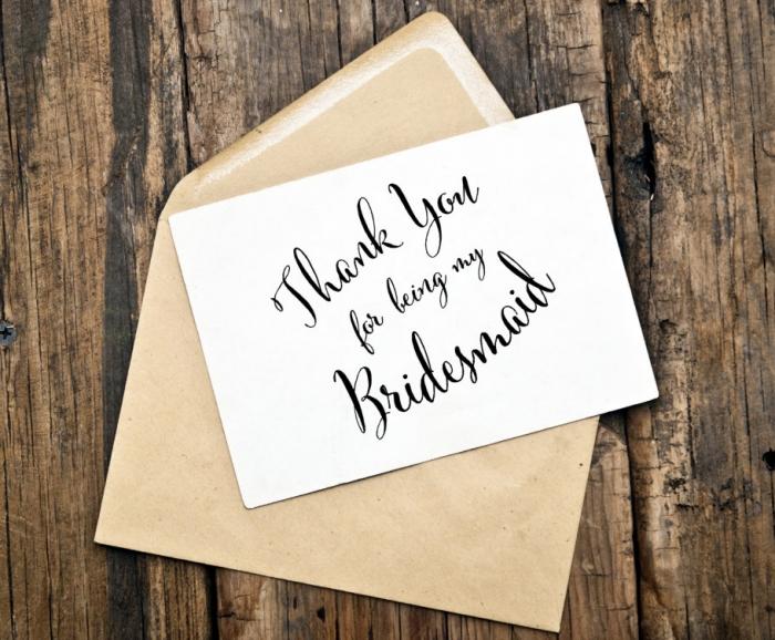 thank you bridesmaid