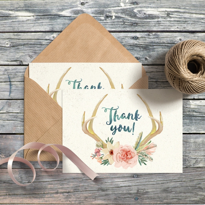 thank you card water color