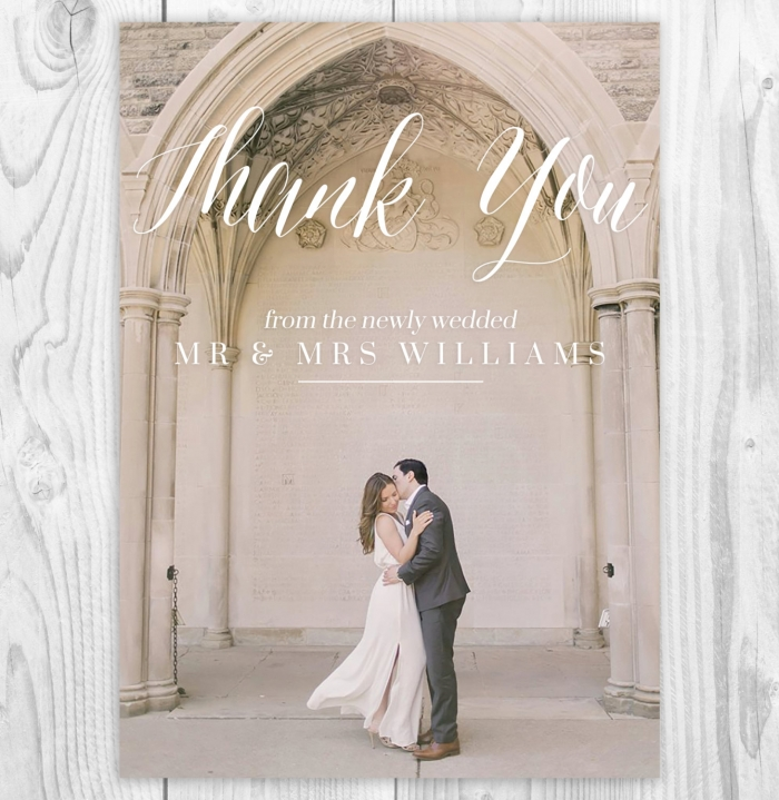 wedding photo card