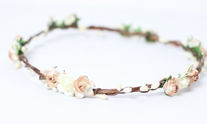 wooden flower crown