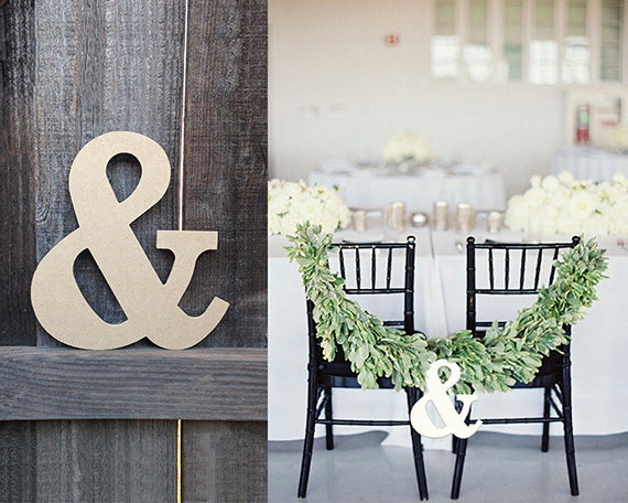 ampersand sign chair