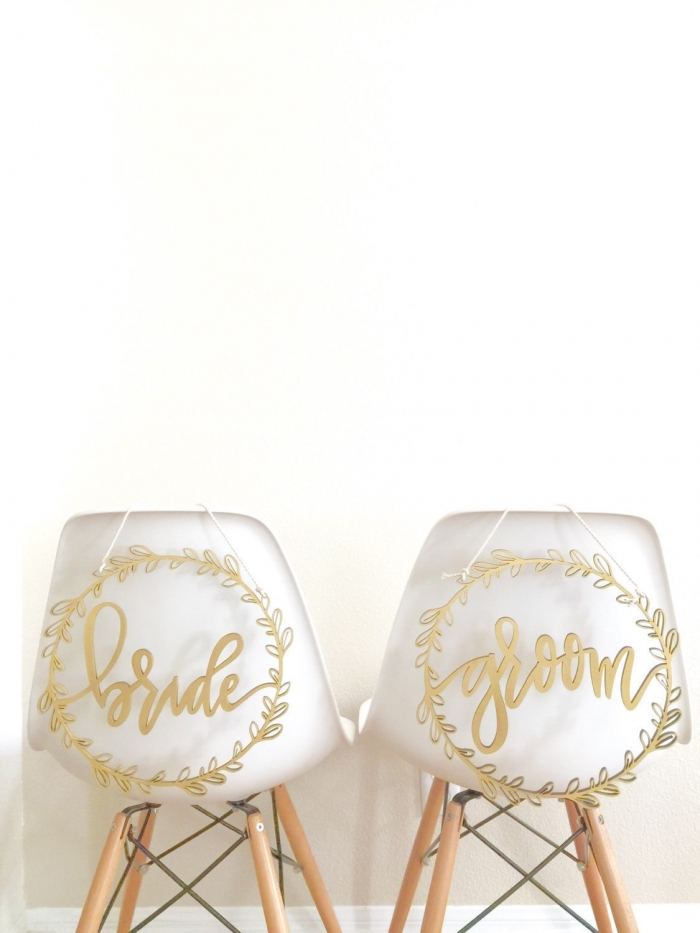 8 Beautiful Newlywed Chair Signs Intimate Weddings