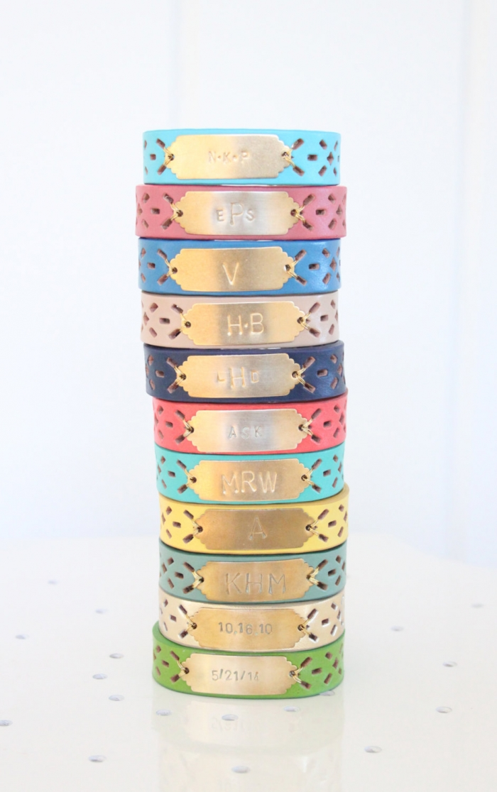 bright personalized bracelet
