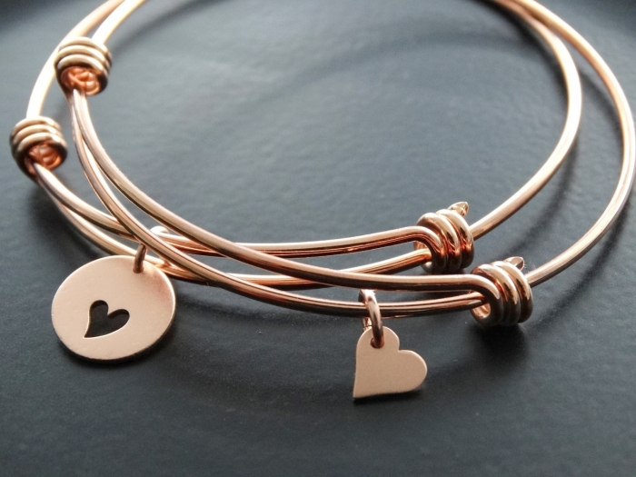 charmed rose gold bracelet
